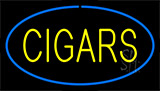 Yellow Cigars Blue Neon Sign