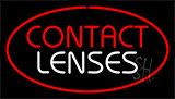 Contact Lenses Red Neon Sign