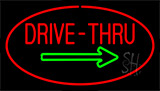 Drive Thru Red Green Arrow LED Neon Sign