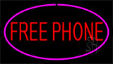 Free Phone Pink Neon Sign