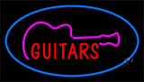Guitars Blue LED Neon Sign