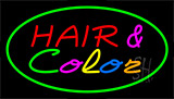 Hair And Color Green Neon Sign