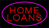 Home Loans Pink Neon Sign