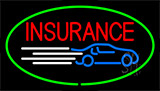 Red Insurance Green Neon Sign
