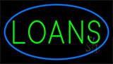 Loans Blue Neon Sign