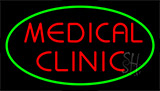 Red Medical Clinic Green Neon Sign