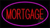 Mortgage Pink Border Neon Sign