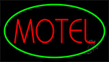 Red Motel Green Border LED Neon Sign