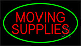 Moving Supplies Green Neon Sign