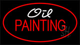 Oil Painting Red Neon Sign