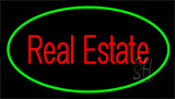 Real Estate Green Neon Sign