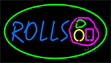 Rolls Green LED Neon Sign