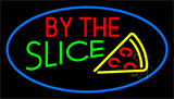 By The Slice Blue LED Neon Sign
