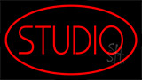 Red Studio Neon Sign
