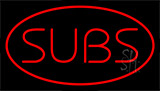 Subs Red LED Neon Sign