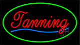 Red Tanning Green Neon Sign