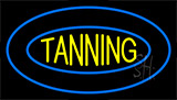 Tanning Double Blue Border Neon Sign