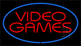 Video Games Blue Neon Sign