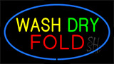 Wash Dry Fold Blue Neon Sign