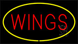 Wings Yellow LED Neon Sign
