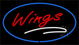 Wings With Blue Border LED Neon Sign