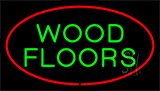 Wood Floors Red Neon Sign