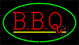 Green Bbq With Yellow Line LED Neon Sign
