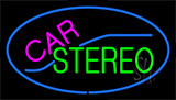 Car Stereo With Blue Border Neon Sign