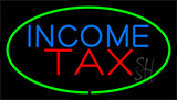 Green Income Tax Neon Sign