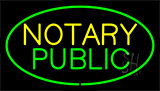 Green Notary Public Neon Sign