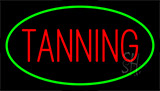 Red Tanning With Green Border Neon Sign