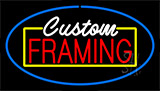 Custom Framing Blue Neon Sign