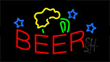 Red Beer Mug LED Neon Sign