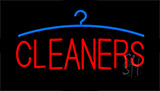 Red Cleaners Logo Neon Sign
