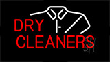 Red Dry Cleaners Shirt Logo Neon Sign