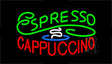 Stylish Espresso Cappuccino Neon Sign