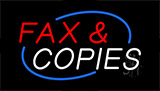 Fax And Copies Neon Sign
