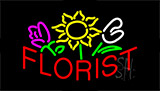 Red Florist LED Neon Sign