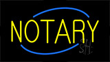 Yellow Notary Neon Sign