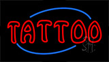 Red Double Stroke Tattoo LED Neon Sign