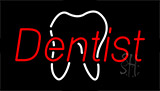Red Dentist Logo Neon Sign