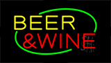 Beer And Wine Neon Sign