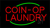 Red Coin Op Laundry Neon Sign