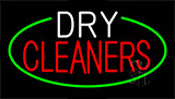 White Red Dry Cleaners Neon Sign