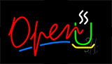 Open Coffee Logo Neon Sign