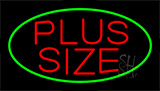 Red Plus Size Green Border Neon Sign