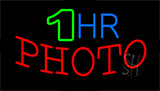 1 Hr Photo Block Neon Sign