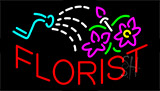 Red Florist Logo Neon Sign