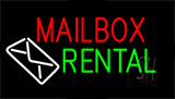 Mailbox Rental Block Neon Sign