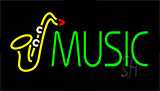 Green Music Neon Sign